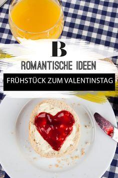 Überrascht Euren Liebsten am Valentinstag mit einem romantischen Frühstück! Wir haben auf Pinterest nach Ideen mit Herz gestöbert.