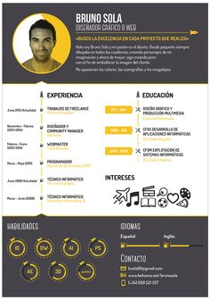 Bruno Sola - Curriculum vitae on Behance