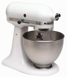 KitchenAid K45SS Classic 250-Watt 4-1/2-Quart Stand Mixer, White,$229.99