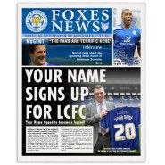 Leicester City FC personalised newspaper Leicester City Fc, Gifts For Football Fans, Personalized Football, New You, Name Signs, Newspaper, How To Become, Names, Baseball Cards