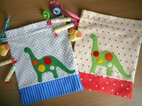 Cute quick bags, great for presents and a quick diaper and wipe bag