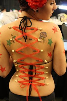 Corset Piercing Tattoo | Star Tattoos And Corset Piercing