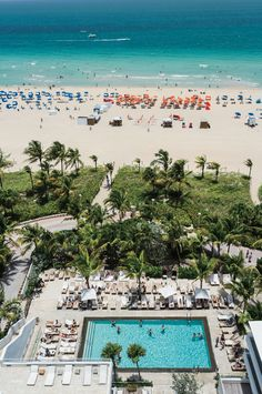 Whether you're at the #beach or the #pool at the James Royal Palm Hotel, both are great options in buzzing #Miami, #Florida.