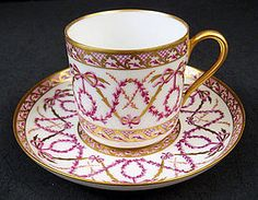Beautiful Antique Sevres Demitasse Cup & Saucer