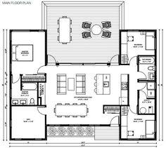 miniHome Hybrid Trio Prefab Home miniHomes Hybrid Trio prefab home - plans. Beach House Plans, Dream House Plans, Modern House Plans, Small House Plans, House Floor Plans, U Shaped House Plans, U Shaped Houses, Prefab Modular Homes, Prefabricated Houses