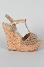 Bamboo Smooch-17 Woven Open Toe Wedge-I want these in the white!