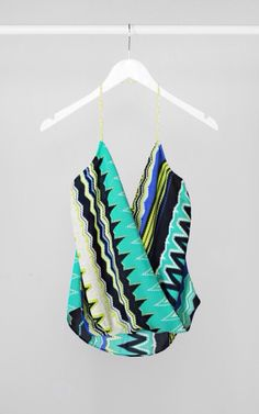 Pattern halter top #swoonboutique