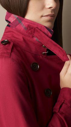 Mid-Length Cotton Poplin Trench Coat   Burberry