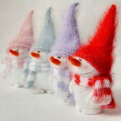 Schattige sneeuwpop Hand-gebreide Christmas door MiracleStore