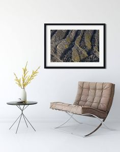 An abstract landscape photo that captures the unique mountain terrain on Mt. Bromo in Indonesia. A vivid wall art print to smarten up any living room, bedroom or office space.