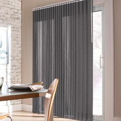 Silk Effect Fabric Vertical Blind Window Coverings, Window Treatments, Living Area, Living Rooms, Patio Curtains, Shades Blinds, Blinds For Windows, Online Furniture, My Dream Home