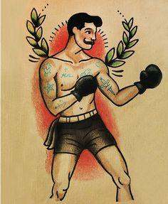 Boxer Tattoo Flash | KYSA #ink #design #tattoo