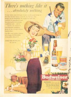 https://flic.kr/p/NXpAjZ | Postcrossing DE-5682597 | Postcard with a vintage Budweiser beer advertisement, sent by a Postcrosser in Germany.