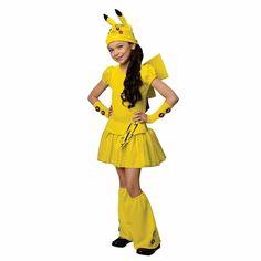 Pokemon Pikachu Cartoons Girls' Halloween Dress Costume Set  4 - 12 Years Old