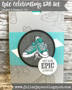 Julie Kettlewell - Stampin Up UK Independent Demonstrator - Order products 24/7: Epic Celebrations Pocket Card