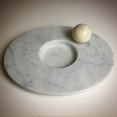 Piatto in marmo di Carrara