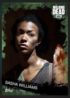 Sasha Williams (Green Parallel) Base Card The Walking Dead 2016 Topps