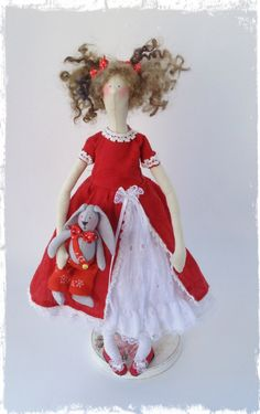 Textile style doll Tilda! Playful cheerful girl, give your child a lot of joy and happiness! Is an unforgettable gift and addition to the Interior childrens room.