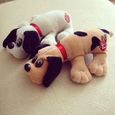 Pound Puppies (I think these are the Hardee's give away ones!)
