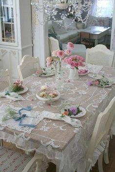 Shabby table setting