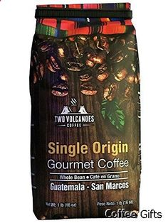 Coffee Gifts - Two Volcanoes Guatemalan Whole Bean Coffee, 1 lb