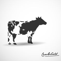 Cow World - Logo Inspiration Cow Logo, Farm Logo, Logo Inspiration, Creative Logo, Logo Animal, Tolle Logos, Fran Silvestre, Logo Luxury, Doodle Drawing