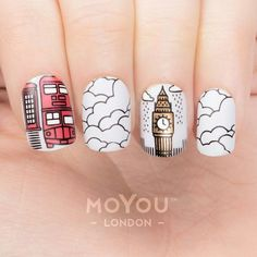 From @moyou_london Instagram We might be getting a little bit of snow here in London and we just needed to match up for the occasion!! How's the weather where you live? ❄️ ☔️☀️ We used: Plates Scandi 03 (04) & Scandi 05 and Nail Polishes: White Knight, Black Knight, Femme Fatale & Ginger Rust