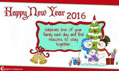 New Year Family Ecards