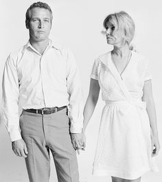 Paul Newman and Joanne Woodward photographed by Lawrence Schiller, 1967.