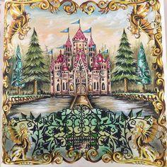 Enchanted Forest Castle Johanna Basford
