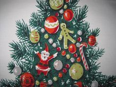 Beautiful Vintage Christmas Tablecloth from Neatokeen