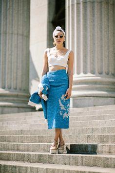 Urban Fieldnotes: Mia Moretti, outside Prabal Gurung, 8th Ave, New Y...