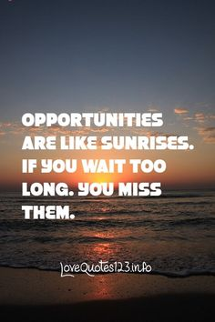 Opportunities are like sunrises - Top 10 Inspirational Quotes