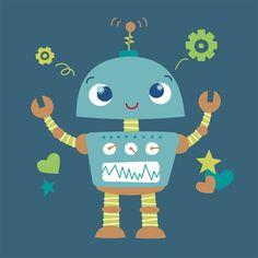 Wall Art Print - Little Robot