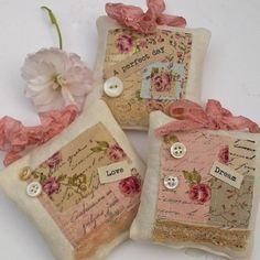 Sachet inspiration: Vintage Style Favour Pillows