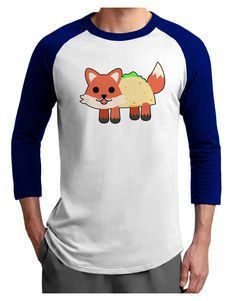 TooLoud Cute Taco Fox Adult Raglan Shirt