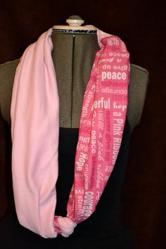 Pink Breast Cancer Awareness Circle Scarf