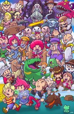 Mother 3 Poster by BallBots on DeviantArt Lucas Mother 3, Mother Games, Otaku, Chibi, Fanart, Cartoon Games, Mario, Video Game Art, Super Smash Bros