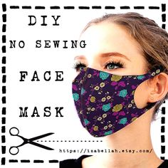 Mask Pattern Printable Free - New ideas Easy Face Masks, Homemade Face Masks, Diy Face Mask For Teens, Sewing Patterns Free, Free Sewing, Sewing Diy, Pattern Sewing, Free Pattern, Pocket Pattern