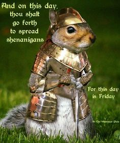 And on This Day Thou Shalt Go Forth to Spread Shenanigans for This Day Is Friday B Che Whimsical Pixie Good Friday, Happy Friday, Hump Day Quotes Funny, Friday Meme, Drinking Quotes, Cute Funny Animals, Adult Humor, Funny Images, Hanging Out