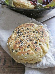 Petits « pains » express à la farine de riz et de pois chiche ( Sans gluten, Vegan ) | KiwiForme