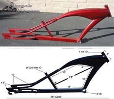 Stretch Cruiser Bicycle frames for sale at a discount price. Upgrade your bicycle today. Trike Bicycle, Lowrider Bicycle, Cruiser Bicycle, Motorized Bicycle, Velo Design, Bicycle Design, Velo Vintage, Vintage Bicycles, Motorised Bike