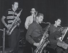 The Four Brothers: Stan Getz, Zoot Sims, Al Cohn and Serge Chaloff. They were a huge hit as part of Woody Herman's band. All four are of Jewish descent... As was Woody Herman.