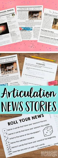 Articulation News is one of my newest products, and believe it or not, it's a perfect fit for both articulation and language students. This resource of chockfull of worksheets and games that will reach your students in a variety of ways and help them find success in learning and practicing speech and language skills.
