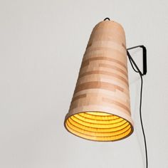 Michael Konstantin Wolke, founder of herrwolke, designed 'Telebeute'. An upcycle design wall lamp made out of discarded cardboard. Mason Jar Chandelier, Diy Chandelier, Mason Jar Lighting, Wall Design, Diy Design, Flower Lamp, Cardboard Art, Handmade Lamps, Light Table