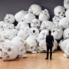 Mass, A Hauntingly Evocative Installation Featuring 100 Giant Human Skulls Piled on Top of One Another