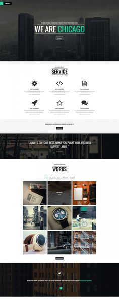 Simple Single Page PSD Template