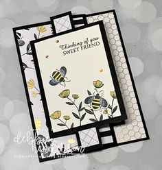 Debbie's Designs: Create with Connie & Mary Saturday Blog Hop! Fun Fold Cards, Pop Up Cards, Folded Cards, Easy Cards, Flip Cards, Card Making Tutorials, Making Ideas, Bee Cards, Stamping Up Cards