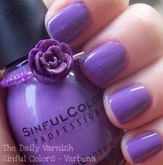 Sinful Colors Verbena Purple Nail Polish... dupe for OPI Planks a Lot. #nails