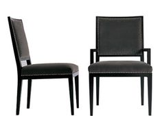 "Dining & Game Chairs - A. Rudin Price: $1,760  Dimensions: 39"" H x 20"" W x 26"" D"